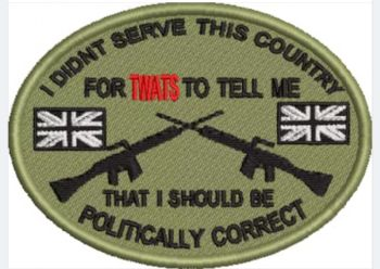 I DIDN'T SERVE THIS COUNTRY EMBROIDERED BADGE